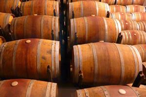 Weinfässer lagern