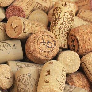 Naturkorken Wein und Champagner